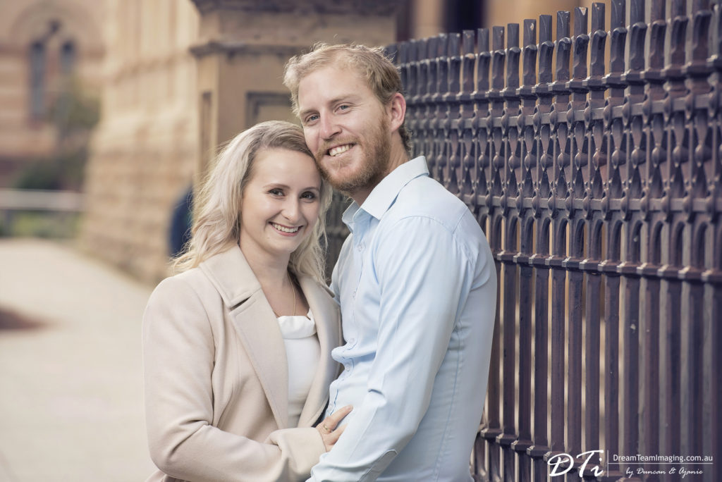 north terrace pre wedding Shiloh and Adam