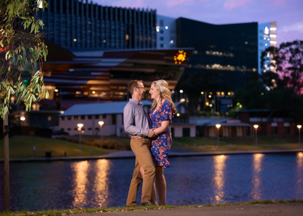 Adelaide CBD night wedding photography
