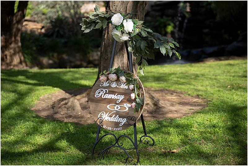 Garden wedding ceremony DreamTeamImaging